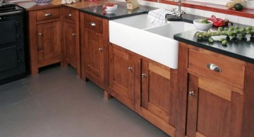 white stand alone kitchen sink