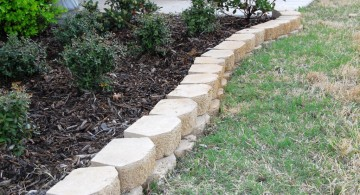 white stones for flower beds