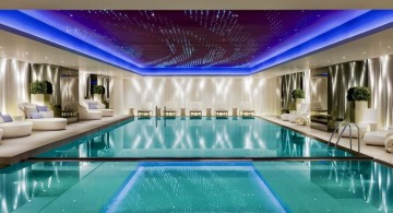 wide indoor swimming pool designs with low ceiling
