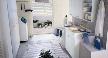 widen small laundry room storage solutions with access to outdoor
