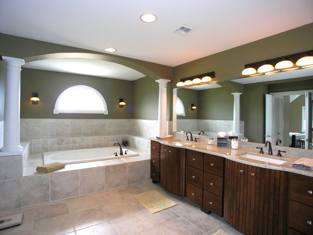 master bathroom lighting ideas with hanging bulbs