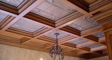 wood borders drop ceiling decorating ideas