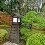wood lantern japanese garden designs for small spaces