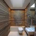 wooden bathroom designs for narrow space