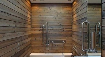 wooden bathroom designs for narrow space