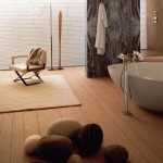 wooden bathroom designs for wide space