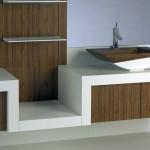 wooden bathroom designs in simple white