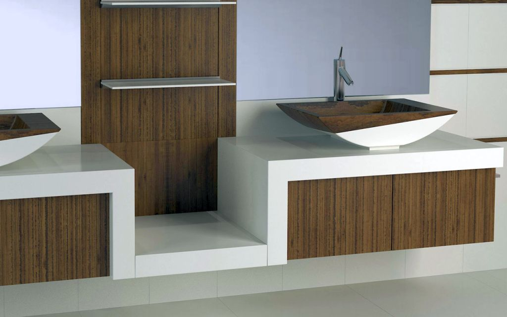 Wooden Bathroom Designs In Simple White
