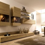 wooden panel wall shelving units for living room