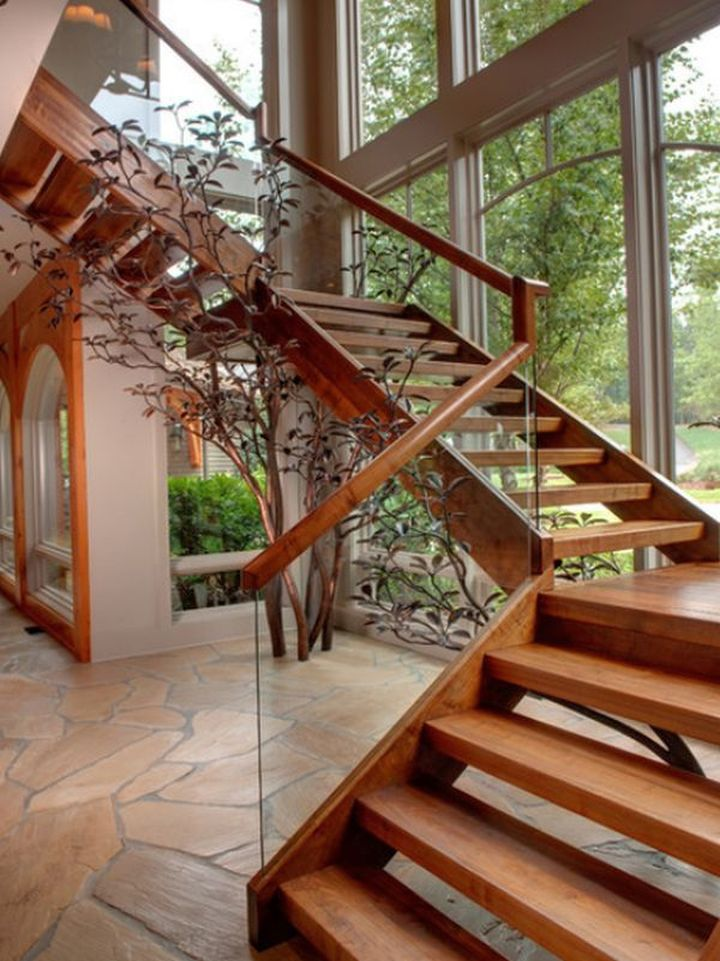 So, What Do You Think About Wooden Staircase Designs With Glass And Wood  Railings Above? Itu0027s Amazing, Right? Just So You Know, That Photo Is Only  One Of 20 ...