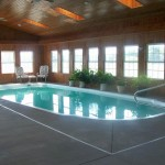 wooden wall indoor swimming pool designs