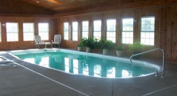 wooden wall indoor swimming pool designs