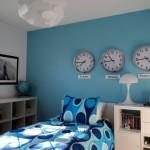 world themed boys blue room