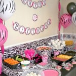 zebra print pink and black wall decor