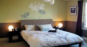 zen bedroom ideas with flower painting