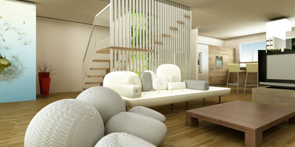 Zen living room ideas for basement living rooms for Apartment zen design