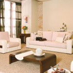 zen living room ideas in white and brown and unique coffee table