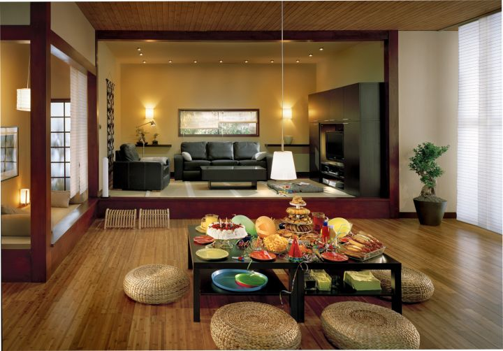 Zen living room ideas with shared dining rooms Extraordinary Zen Living Room Ideas