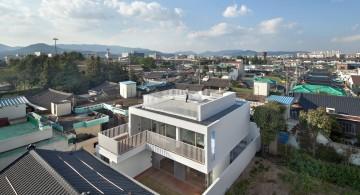172M2 Compact House bird eye view
