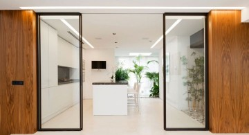 Agalarov Estate double door partition to the kitchen