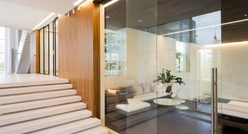 Agalarov Estate glass partition to living room