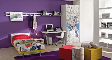 Boys room color in purple