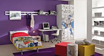 Boys room color in purple