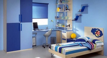 Boys room color in two shades of blue