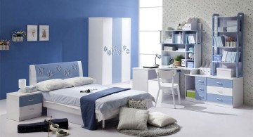 Boys room color with blue and faded purple