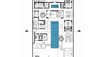 Chenglu Villa house nine first floor plan