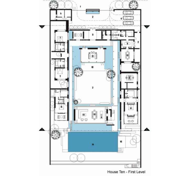 Chenglu Villa house ten first floor plan