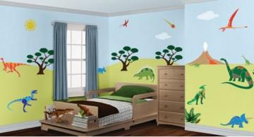 Colorful dinosaur wallpaper mural designs for child room