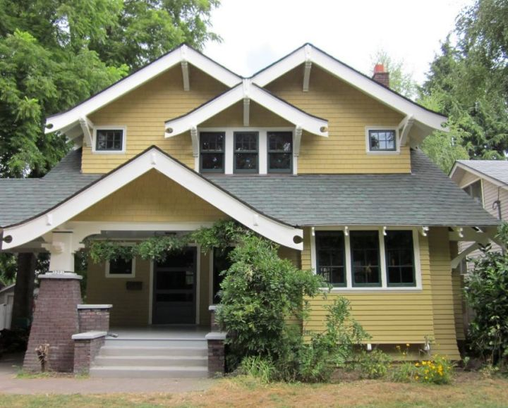 Remodeling 1912 craftsman house from portland oregon for Redesign front of house