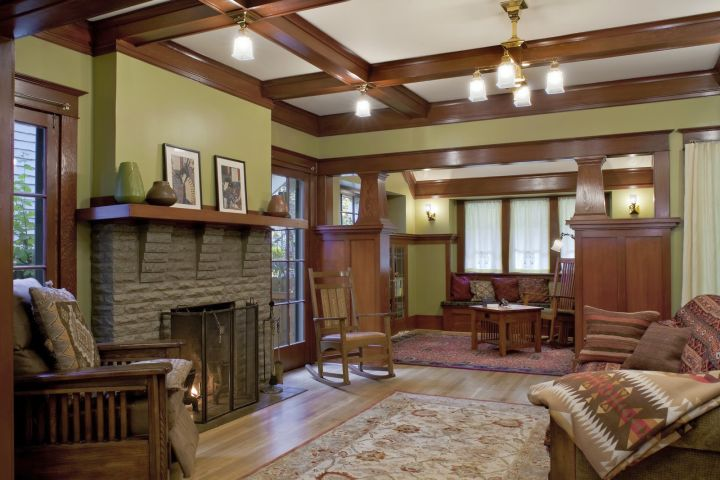 Remodeling 1912 craftsman house from portland oregon for Living room 6 portland