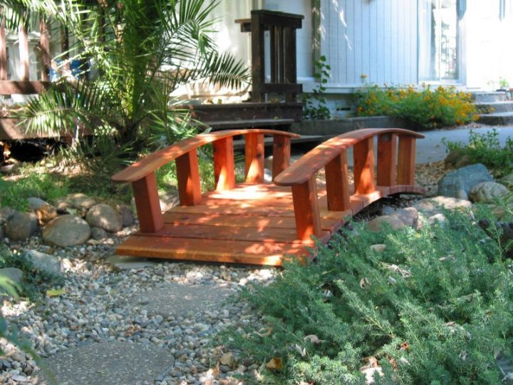 awesomely neat diy garden bridge ideas, Backyard Ideas