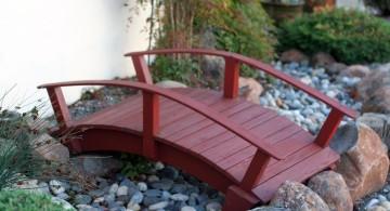 DIY garden bridge miniature