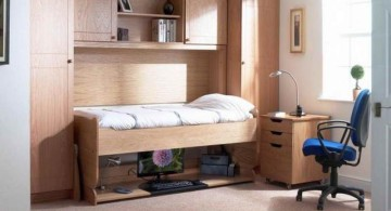 Desk bed combo for home office