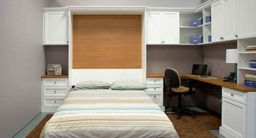 Desk bed combo for small rooms