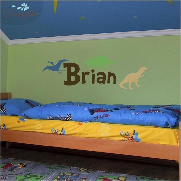 Dinosaur themed bedroom bed with trundle