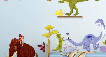 Dinosaur themed bedroom with mammoth