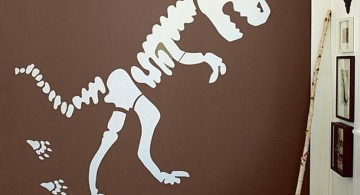 Dinosaur themed bedroom with xray from a t rex