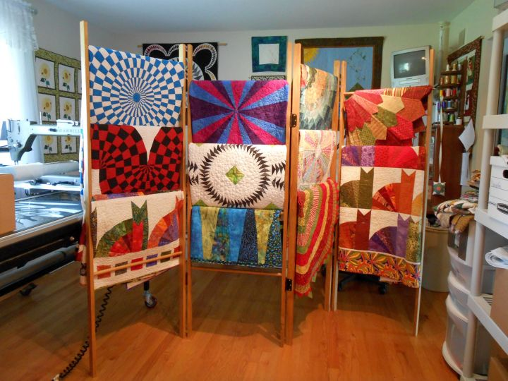 Display ladder for colorful cloth