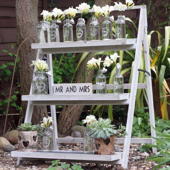 Display ladder for wedding decoration
