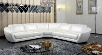 Elegant white Italian Sofa Brands