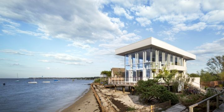 Fire Island Beach House from land view