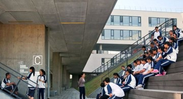 Garden School Beijing staircase school yard