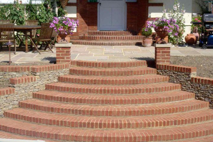 Garden Stairs From Bricks