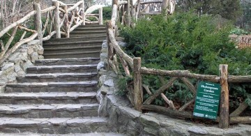 Garden stairs on shakespeare garden