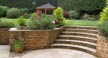 Garden stairs simple contemporary