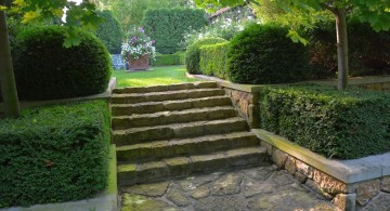 Garden stairs to a hidden garden